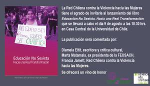 invitación lanzamiento libro ed No sexista