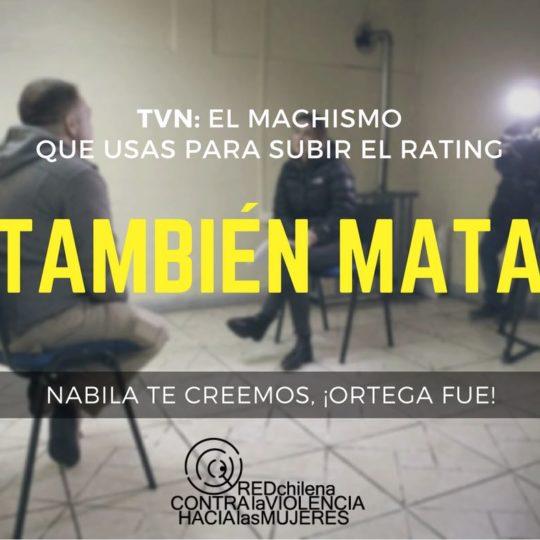 TVN: El machismo que usas para subir el rating mata