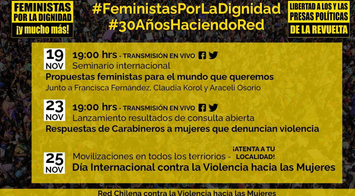 actividades feministas por la dignidad y mucho mas red chilena