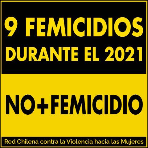 9 femicidios durante el 2021