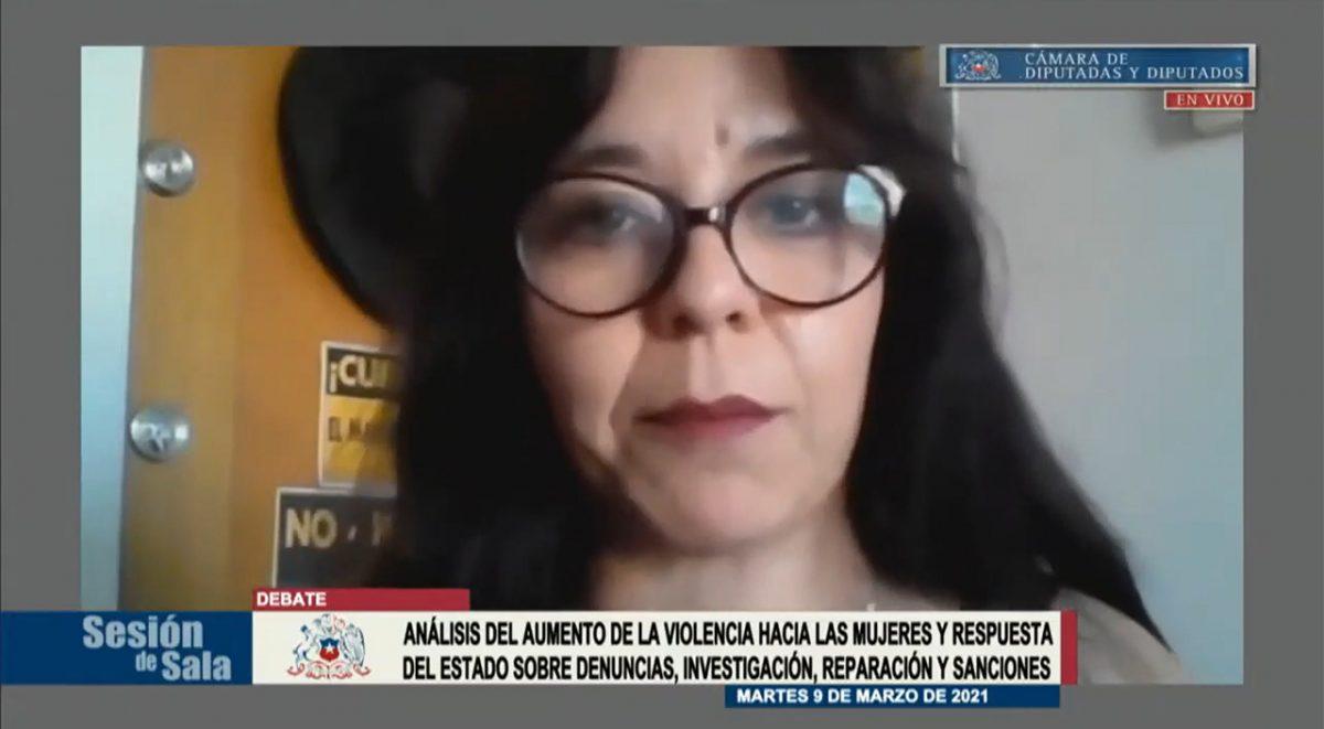 Foto Lorena Astudillo en sesión Cámara Baja