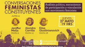 Conversaciones feministas constituyentes jueves 27 mayo 19 hrs