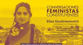 Elisa Giustinianovich constituyente feminista del distrito 28 en en Ciclo de Conversaciones feministas constituyentes de la Red Chilena contra la Violencia hacia las Mujeres