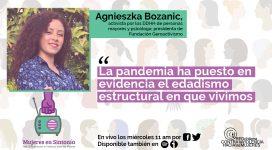 """agnieszka bozanic en mujeres en sintonia """"La pandemia ha puesto en evidencia el edadismo estructural en que vivimos"""""""