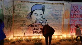 Mural y velatón por Justicia para Nicole Saavedra